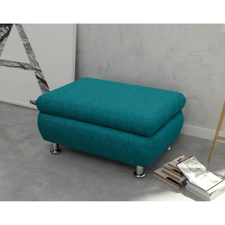 home24 Polsterhocker Belzoni Webstoff | Wohnzimmer > Hocker & Poufs | Blau | Textil | Fredriks