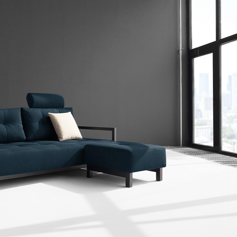 home24 Polsterhocker Bifrost Webstoff | Wohnzimmer > Hocker & Poufs > Polsterhocker | Blau | Innovation Moebel