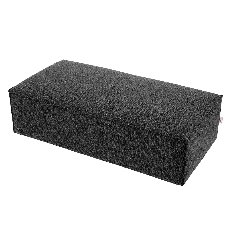 home24 Polsterhocker Big Cube II Strukturstoff | Wohnzimmer > Hocker & Poufs | Grau | Textil | Tom Tailor