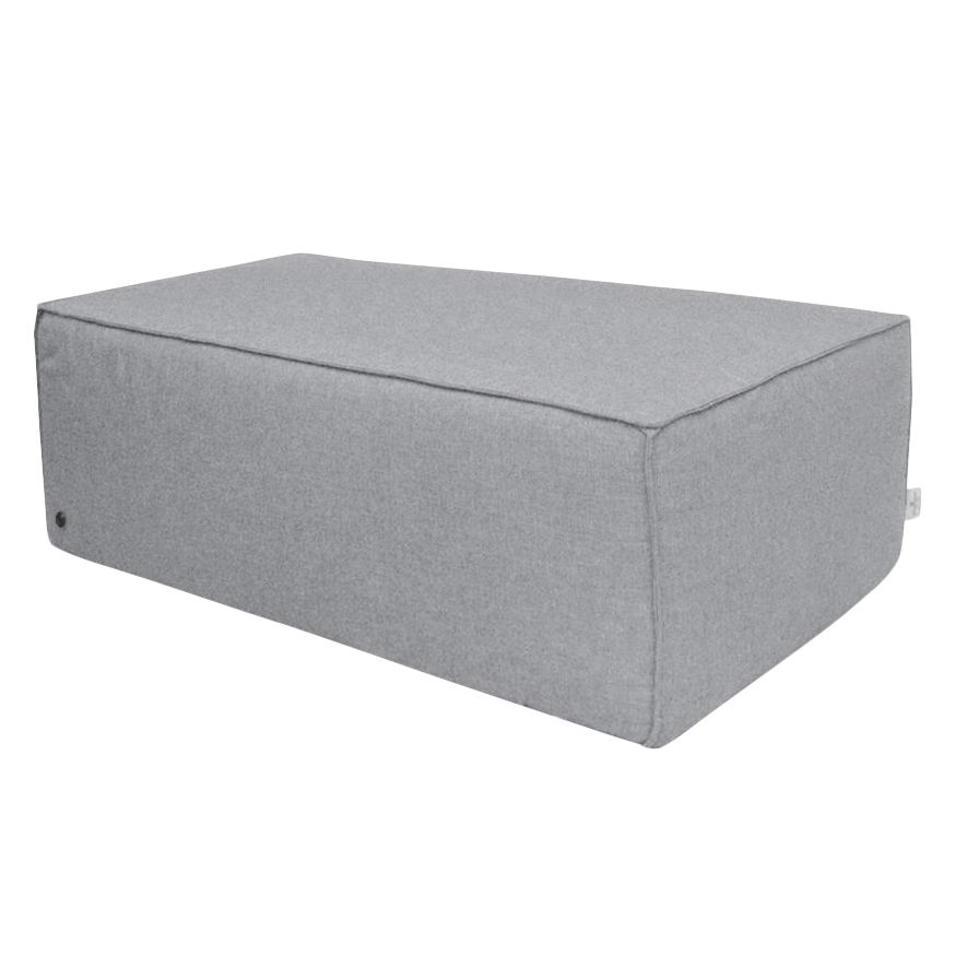Gestoffeerde Hocker Big Cube Geweven Sto