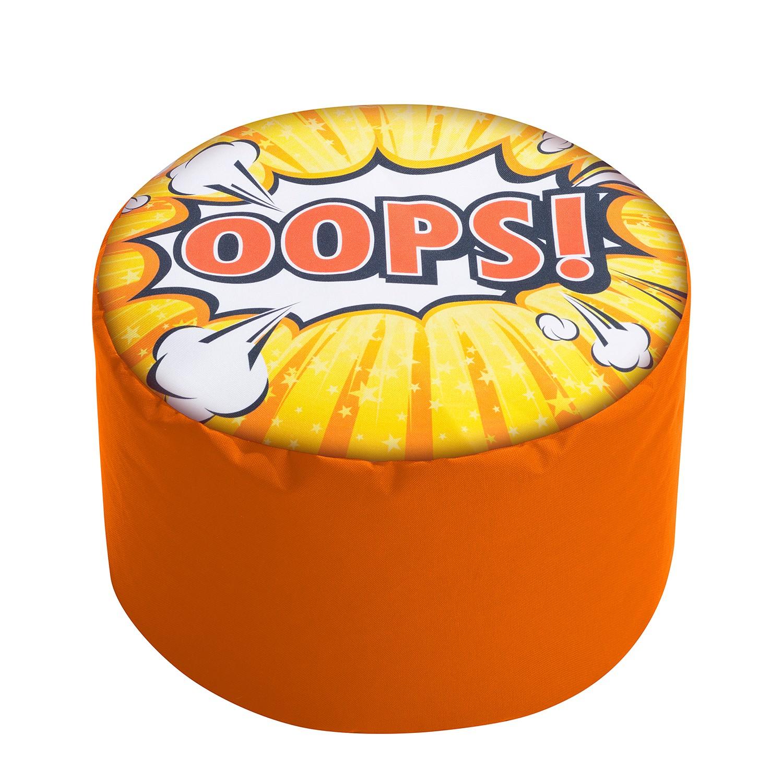 home24 Polsterhocker Dot Com Oops | Wohnzimmer > Hocker & Poufs | Orange | Textil | SITTING POINT