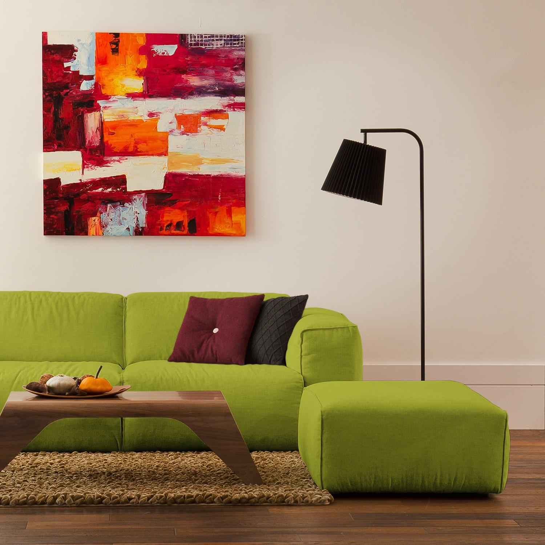 Polsterhocker Hudson Webstoff | Wohnzimmer > Hocker & Poufs > Polsterhocker | Gruen | Textil | Studio Copenhagen