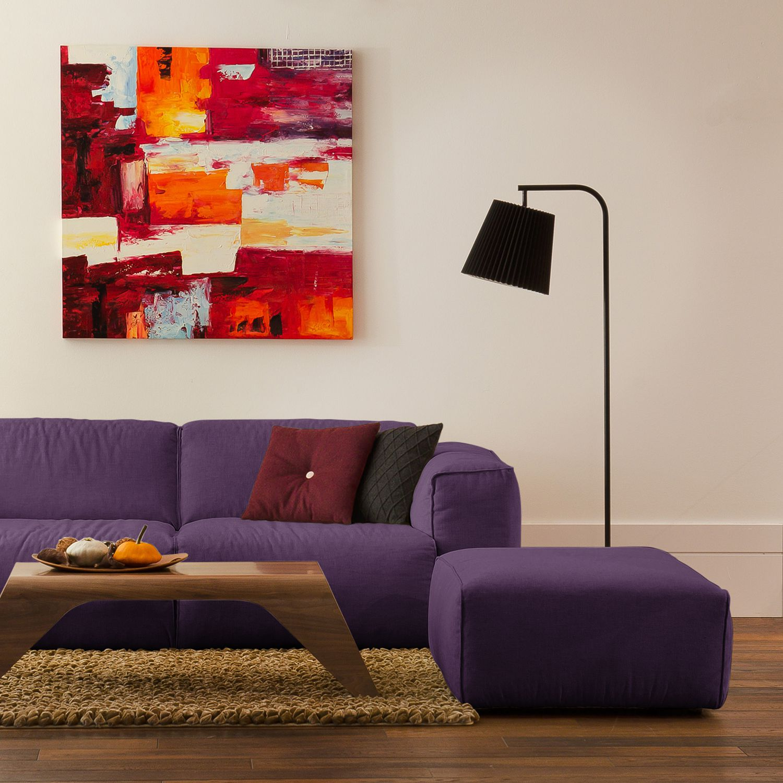 home24 Polsterhocker Hudson Webstoff | Wohnzimmer > Hocker & Poufs | Textil | Studio Copenhagen