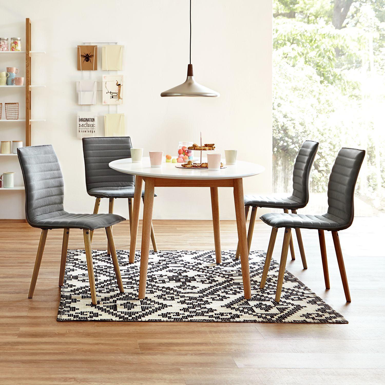 home24 Polsterstuhl Kean I (2er-Set) | Küche und Esszimmer > Stühle und Hocker > Polsterstühle | Grau | Textil | Moerteens
