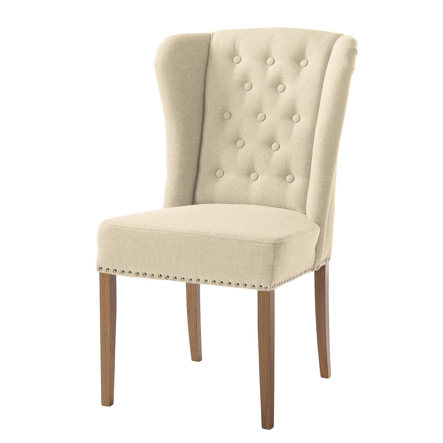 Maison belfort chaise lerona tissu h tre massif for Chaise de calvin