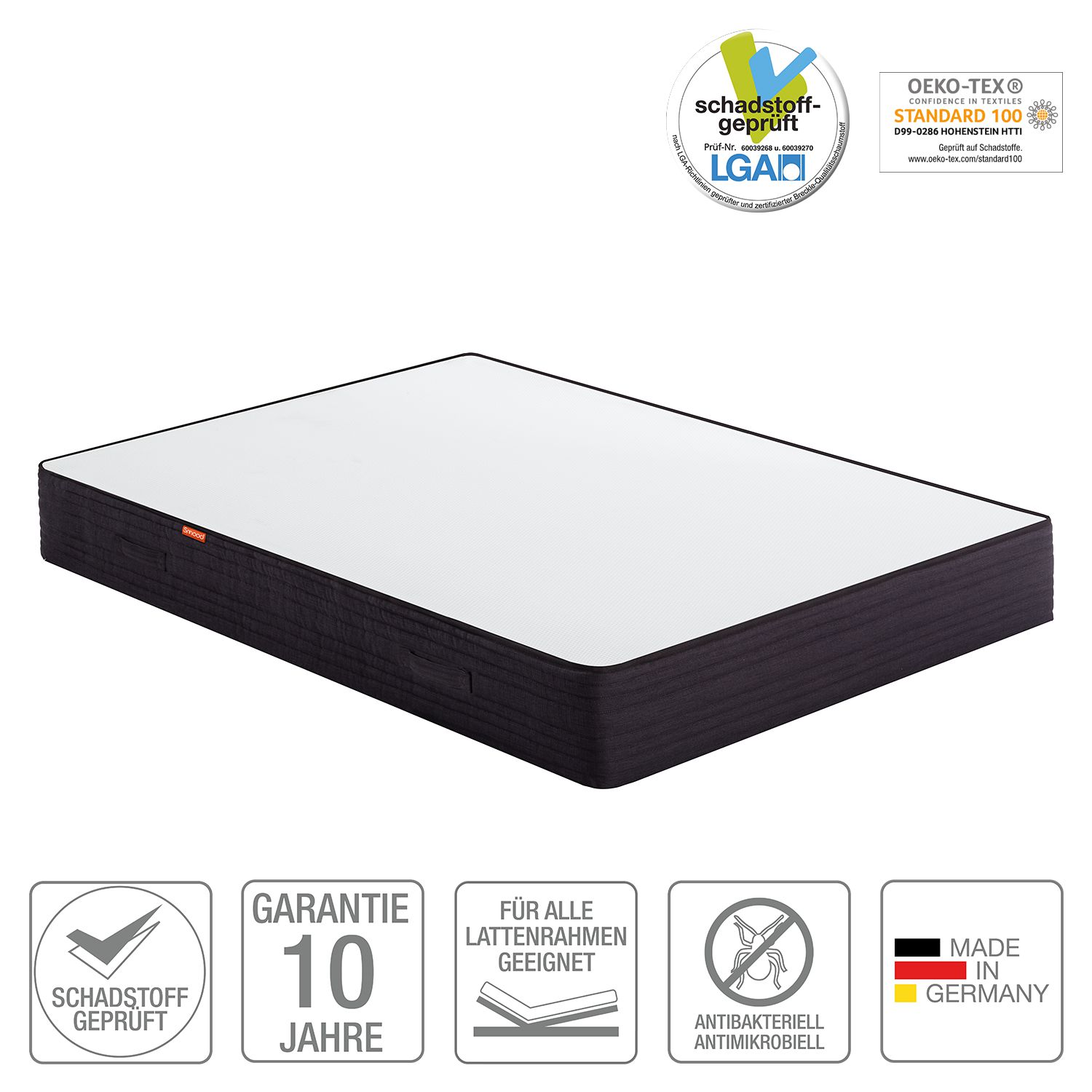 Matelas confort Premium Smood - 180 x 190cm, Smood