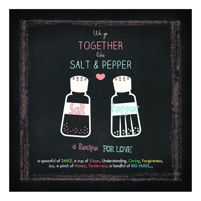Floatglasbild Salt und Pepper