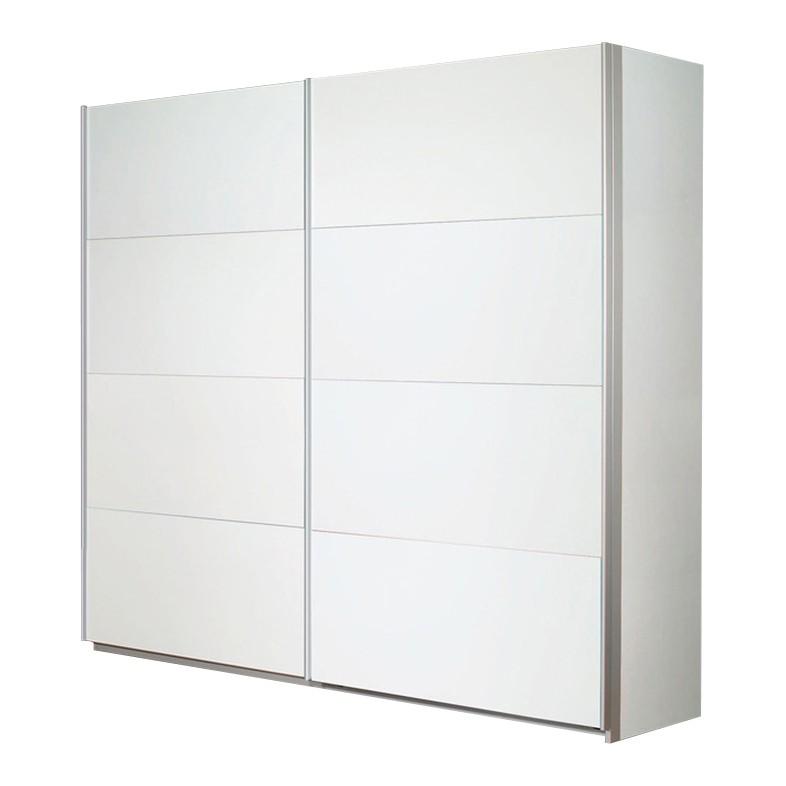 goedkoop Schuifdeurkast Quadra II Alpinewit 271cm 2 deurs 230cm Rauch