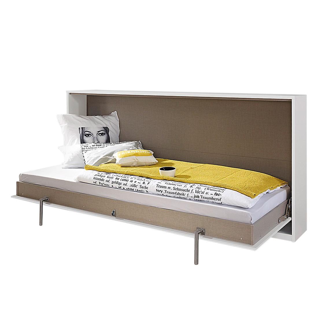 home24 Querklappbett Albero Extra | Schlafzimmer > Betten > Schrankbetten | Weiss | Holzwerkstoff | Rauch