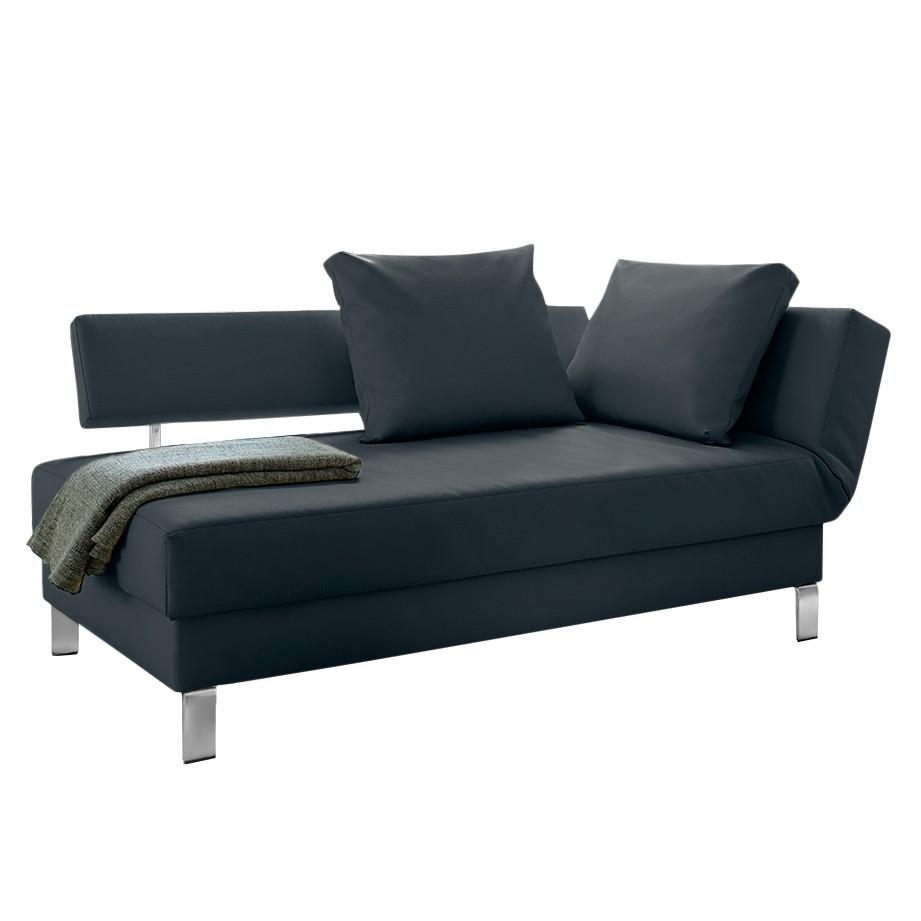 goedkoop Longchair Athmos met slaapfunctie kunstleer Armleuning vooraanzicht rechts Donkerblauw loftscape