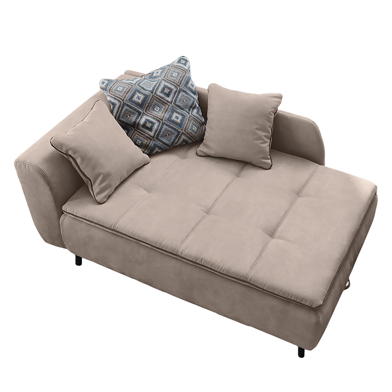 goedkoop Longchair Hornby met slaapfunctie microvezel kasjmierkleurig Home Design