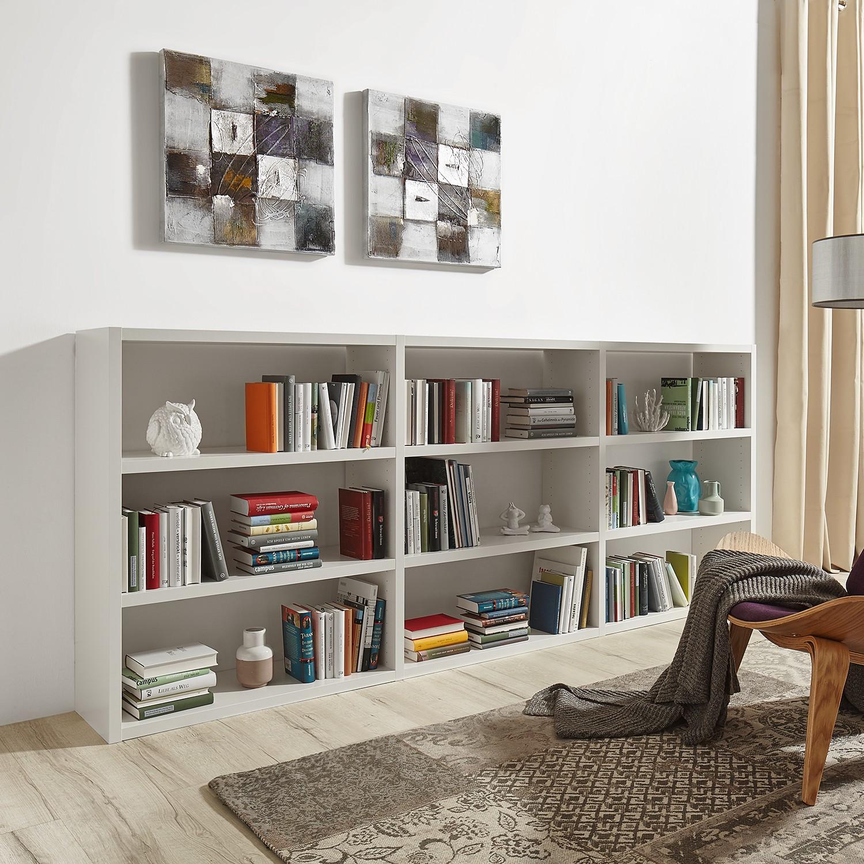 home24 Buecherregal Empire | Wohnzimmer > Regale > Bücherregale | Weiss | loftscape