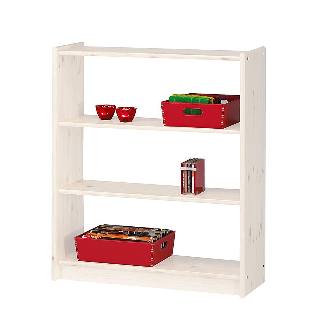 Libreria Tomke I - Legno massello di pino bianco, Steens