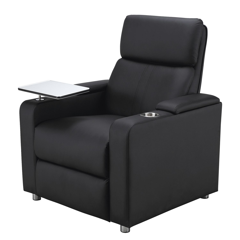 goedkoop Relaxfauteuil Aldra kunstleer zwart Nuovoform