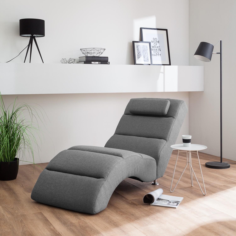 home19 Fredriks Relaxliege Califfo Grau Strukturstoff 19x19x19 cm (BxHxT)