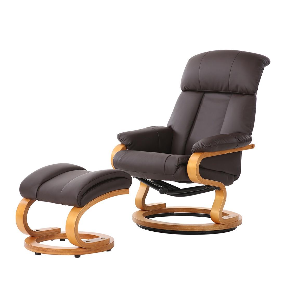 relaxsessel mit hocker braun. Black Bedroom Furniture Sets. Home Design Ideas