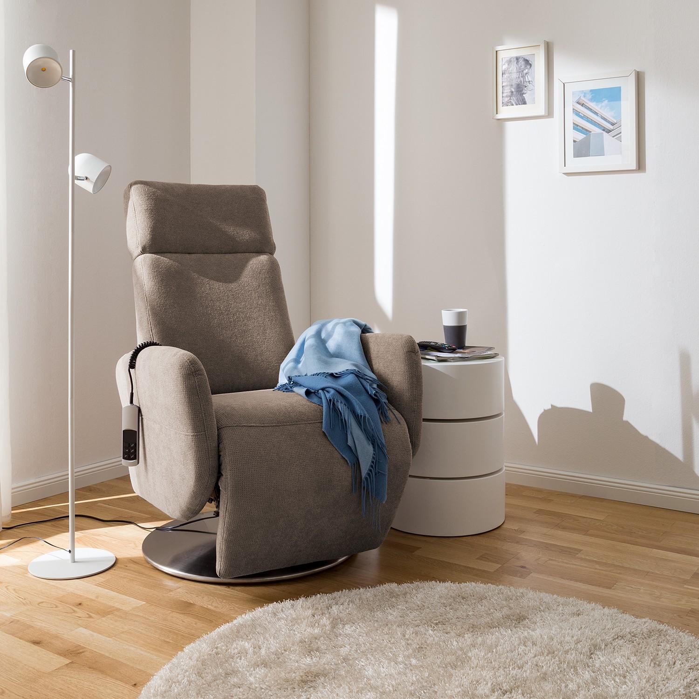 home24 Fredriks Relaxsessel Biar Warmes Beige Strukturstoff 71x110x82 cm (BxHxT)