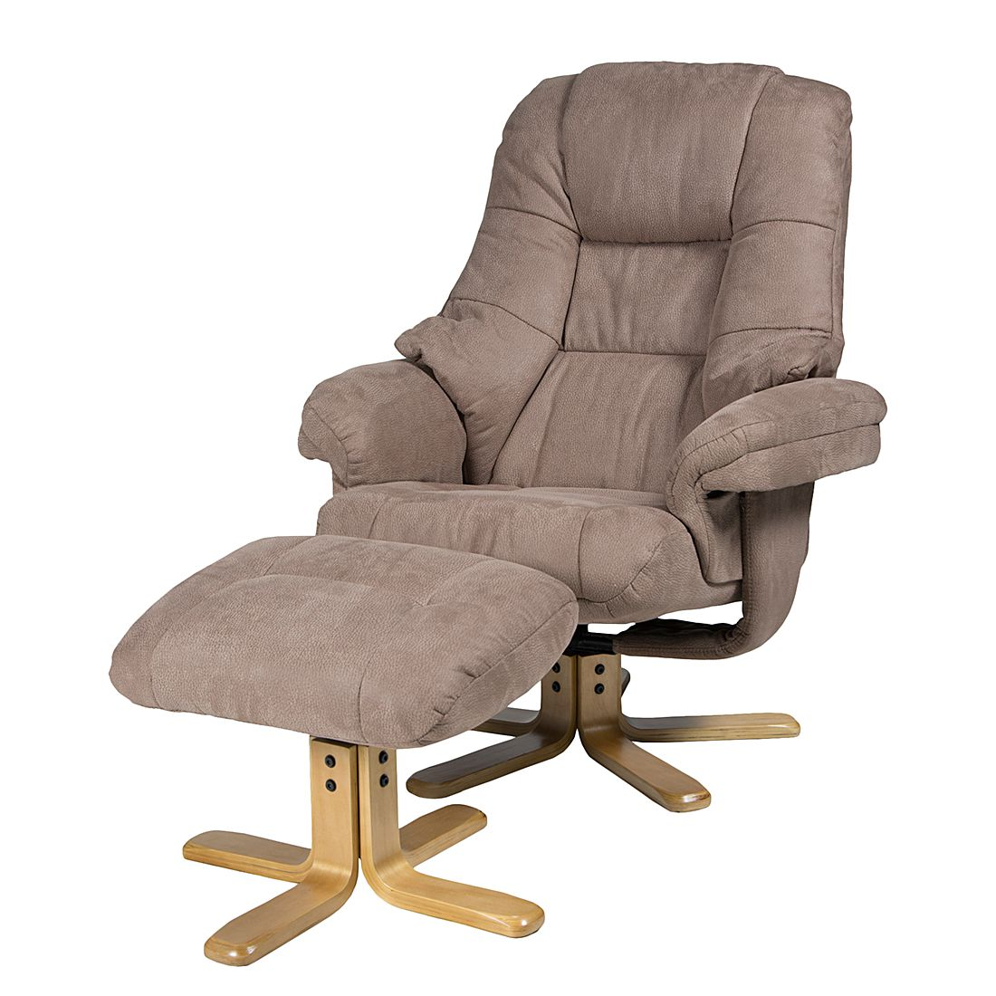 Relaxfauteuil Lacanau (met hocker), Duo Collection