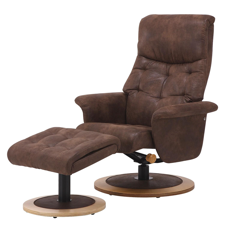 relaxsessel mit hocker braun preisvergleich die besten. Black Bedroom Furniture Sets. Home Design Ideas