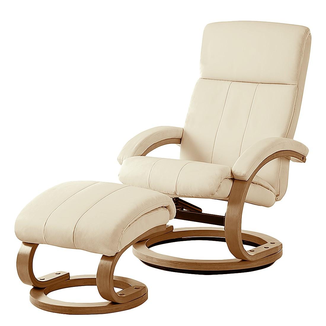 Poltrona relax Vancouver (con sgabello) - Similpelle beige poggiapiedi) Avorio, Nuovoform