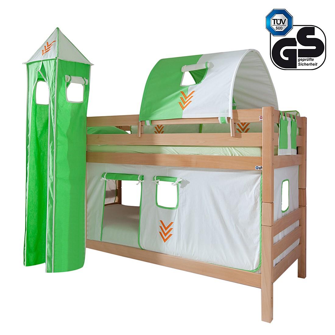 home24 Etagenbett Beni | Kinderzimmer > Kinderbetten > Etagenbetten | Braun | Massivholz - Holz | Relita