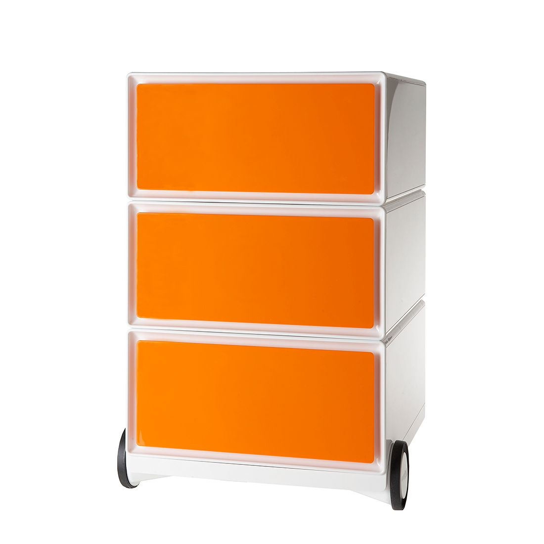 Rollcontainer easyBox I | Büro | Orange | Kunststoff | easyOffice by Paperflow