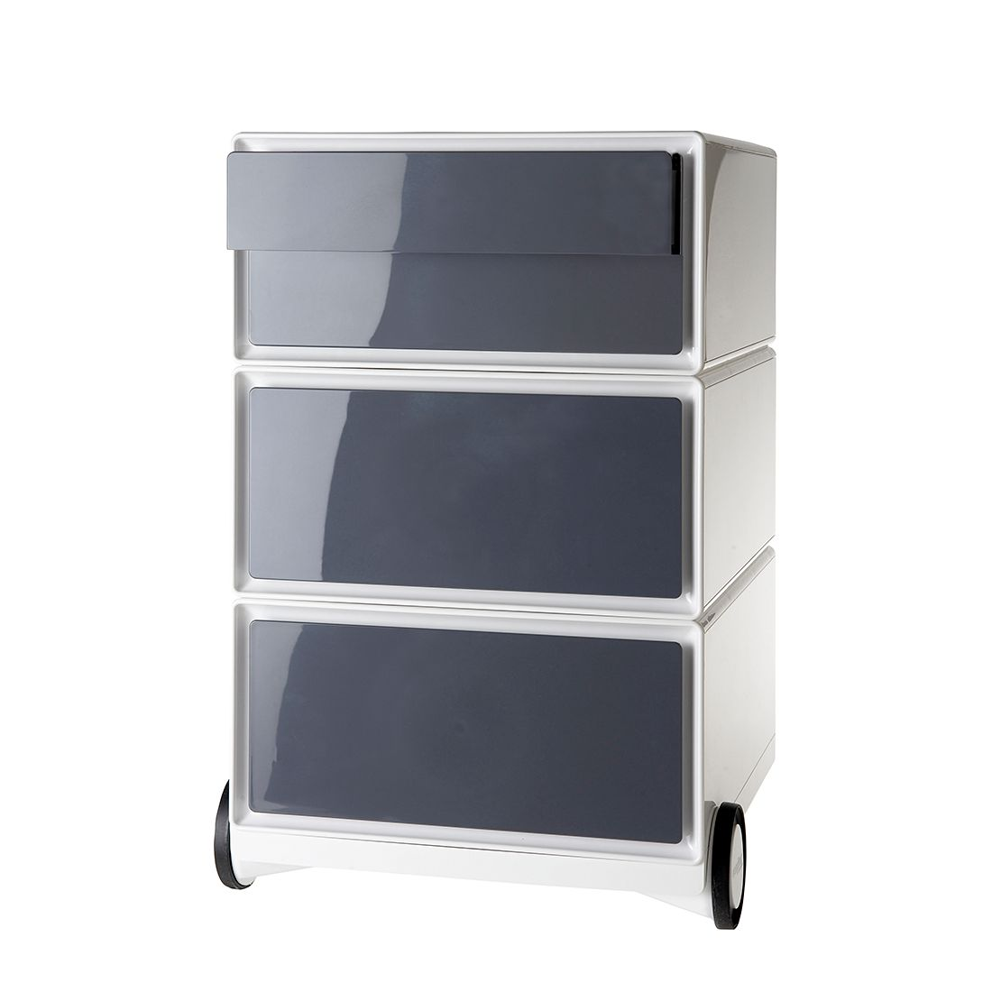 home24 Rollcontainer easyBox II   Büro > Büroschränke > Rollcontainer   Grau   Kunststoff   easyOffice by Paperflow