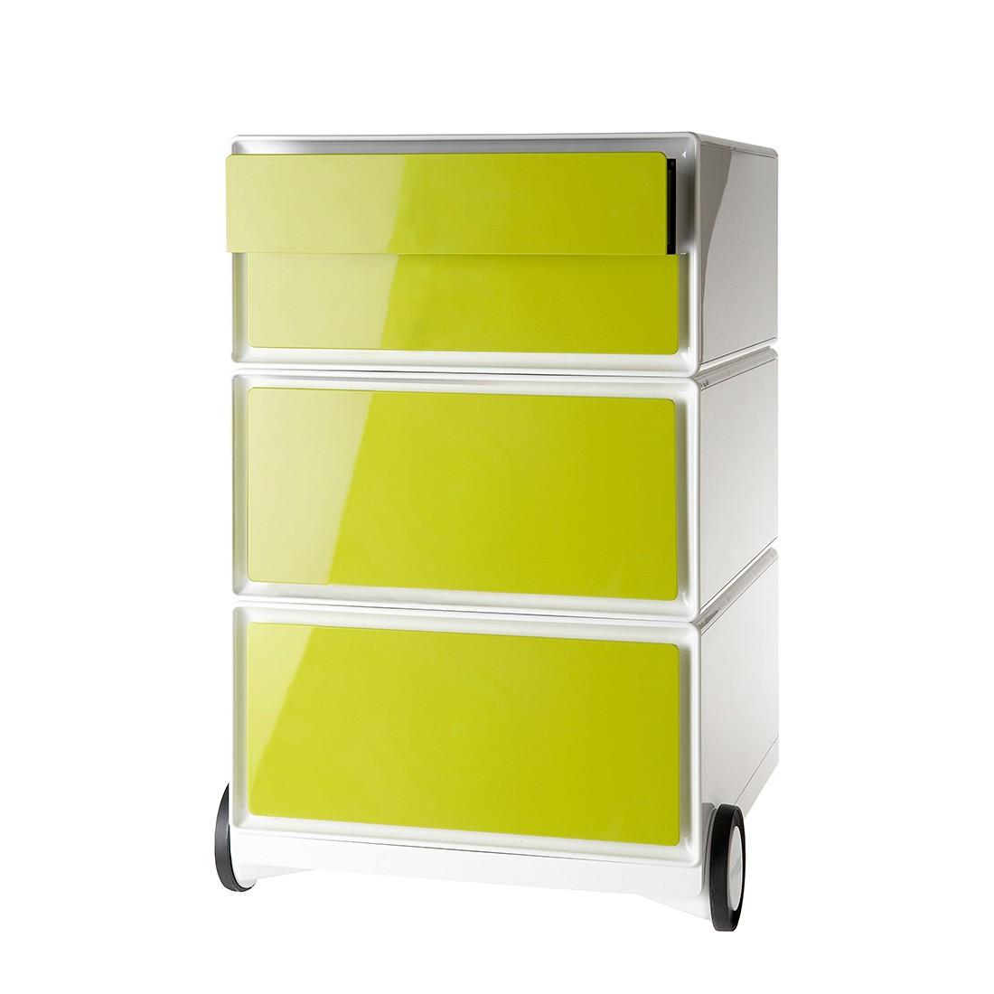 Cassettiera da ufficio con ruote easyBox II - Bianco / Verde, easy Office und Paperflow