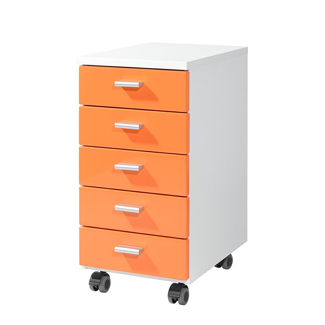 Cassettiera con ruote Colour - Arancione / Bianco, Germania