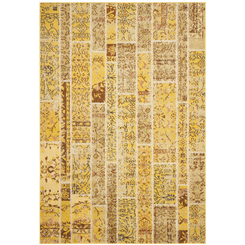 Teppich Effi - Kunstfaser - Gelb / Creme - 200 x 279 cm, Safavieh