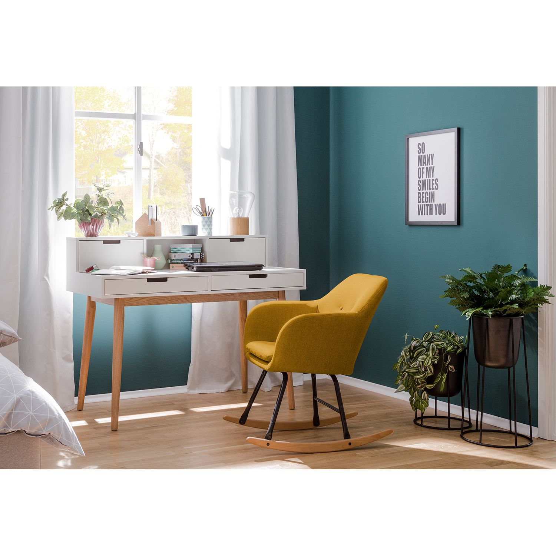 home24 Schaukelstuhl Bolands | Wohnzimmer > Stüle | Gelb | Moerteens