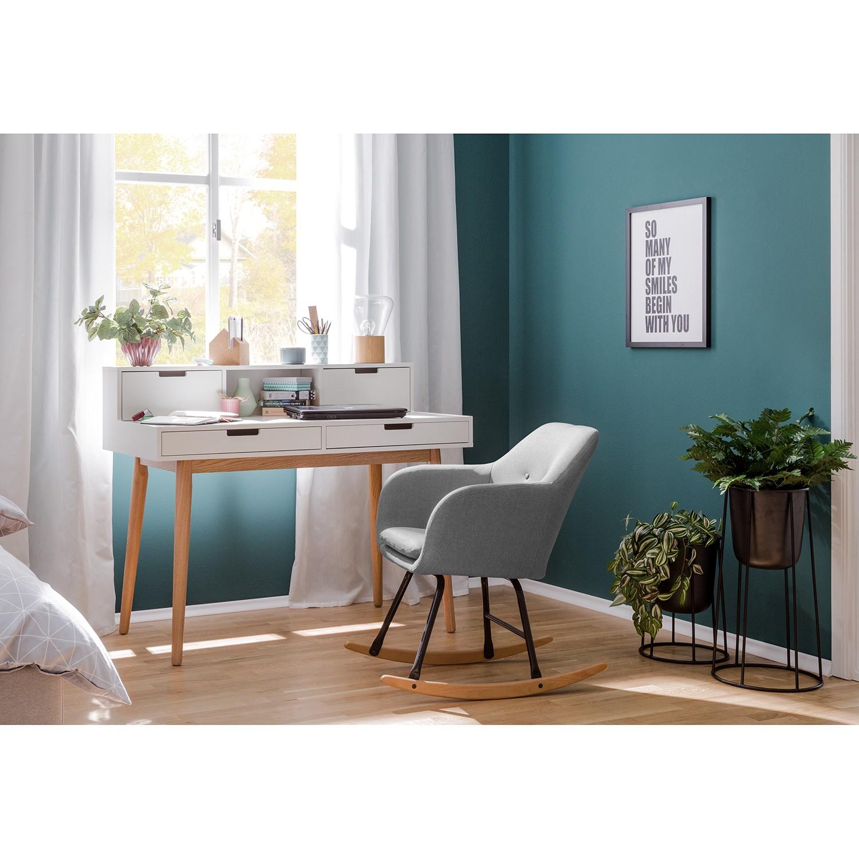 Schaukelstuhl Bolands | Wohnzimmer > Stüle > Schaukelstühle | Grau | Massivholz - Textil | Moerteens