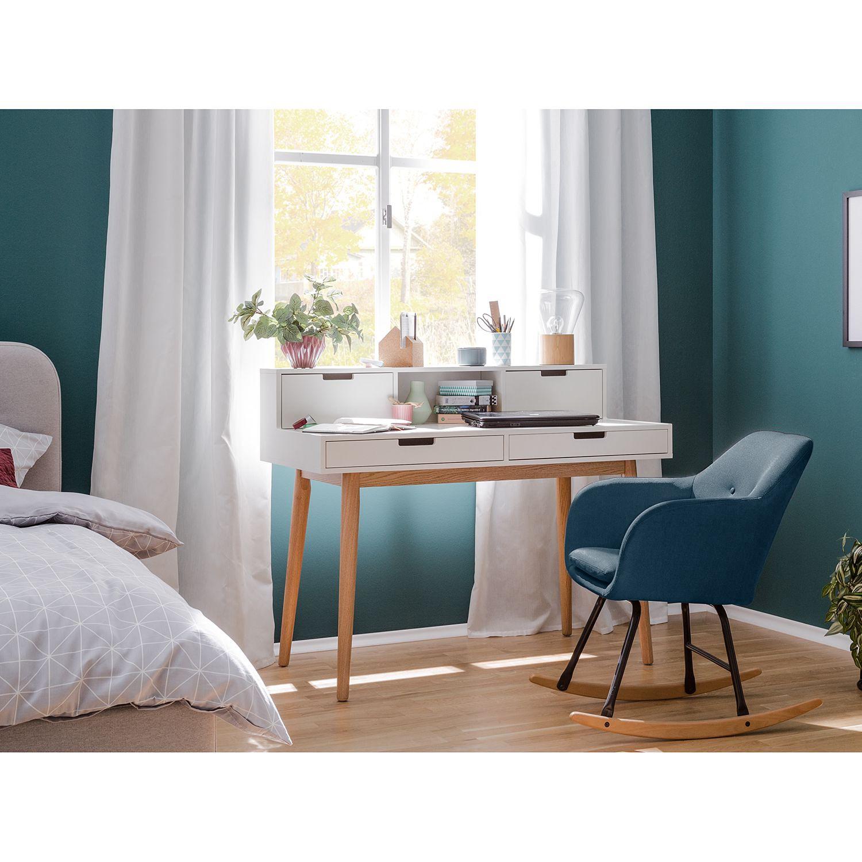 Schaukelstuhl Bolands | Wohnzimmer > Stüle | Blau | Massivholz - Textil | Moerteens