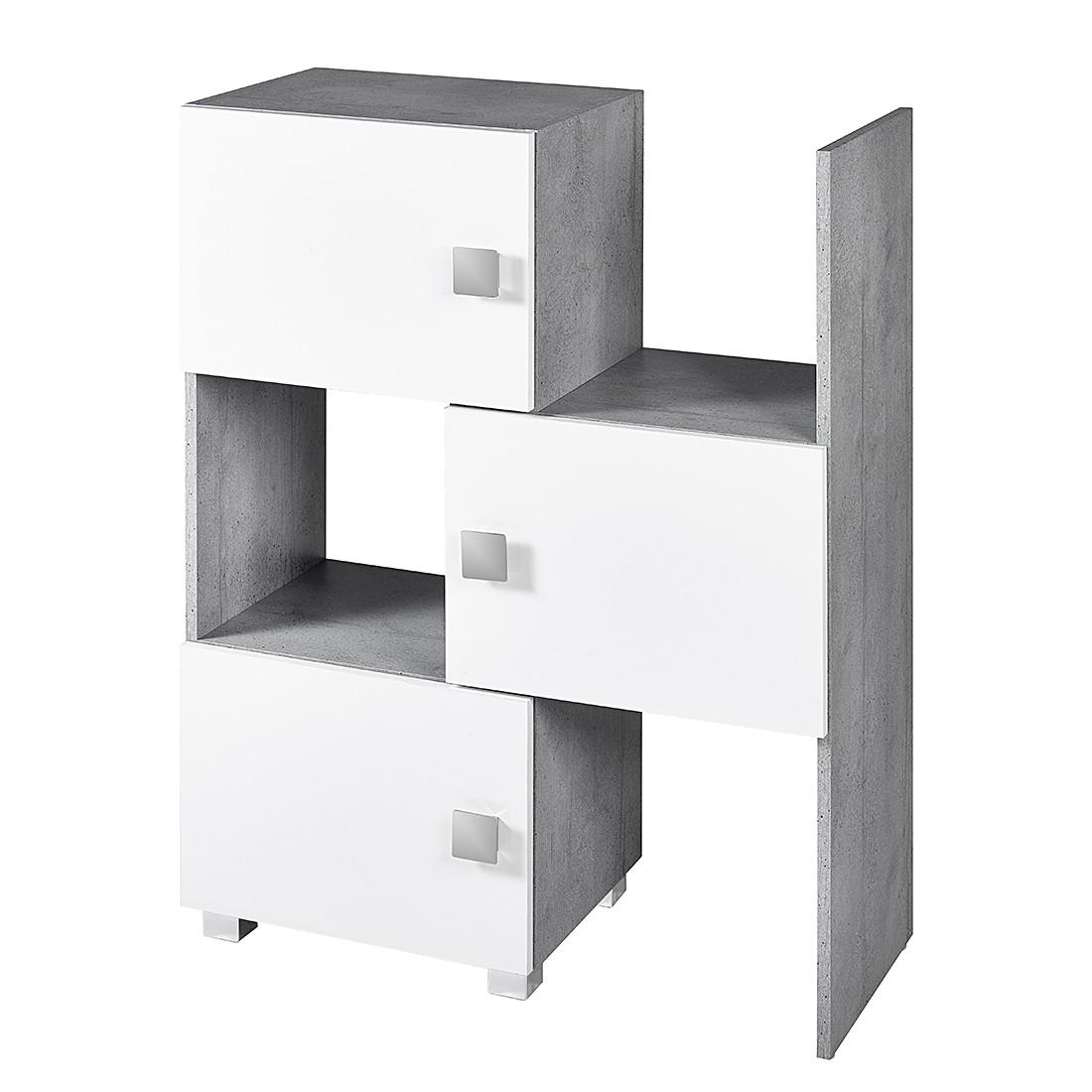 home24 Schieberegal Genf   Büro > Büroregale > Standregale   Grau   Holzwerkstoff   Schildmeyer