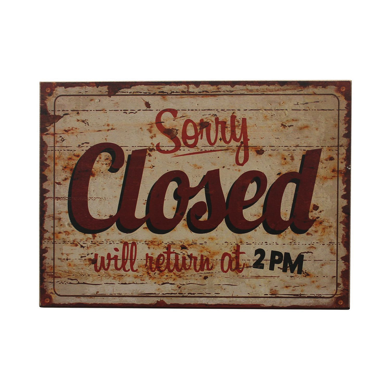Schild Closed, My Flair