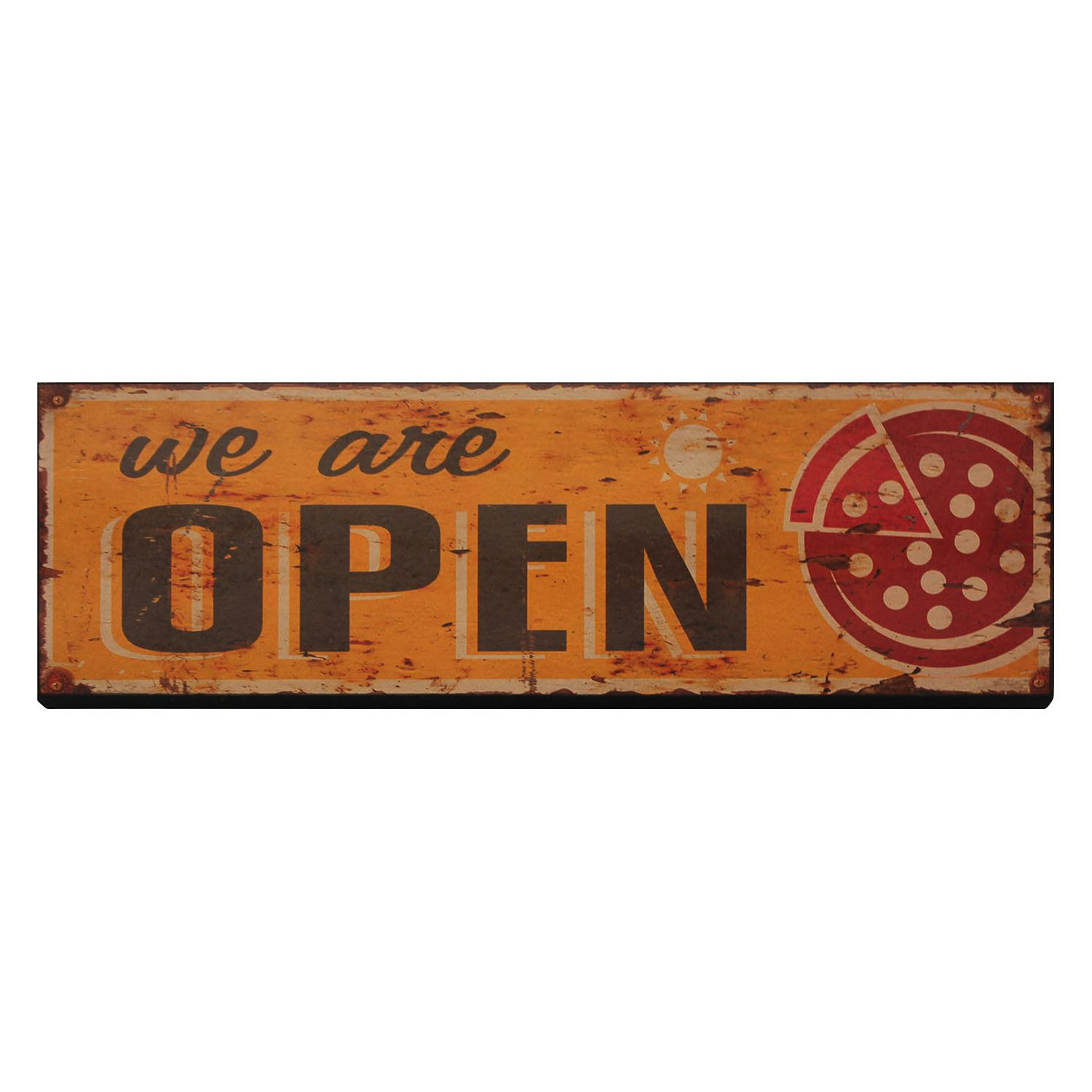 Schild We Are Open, My Flair