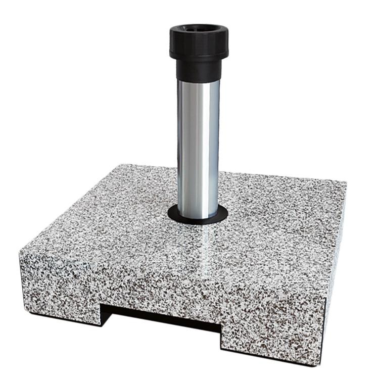 Schirmständer Parrin I - Kunststoff / Aluminium - Granit Hell, Helcosol