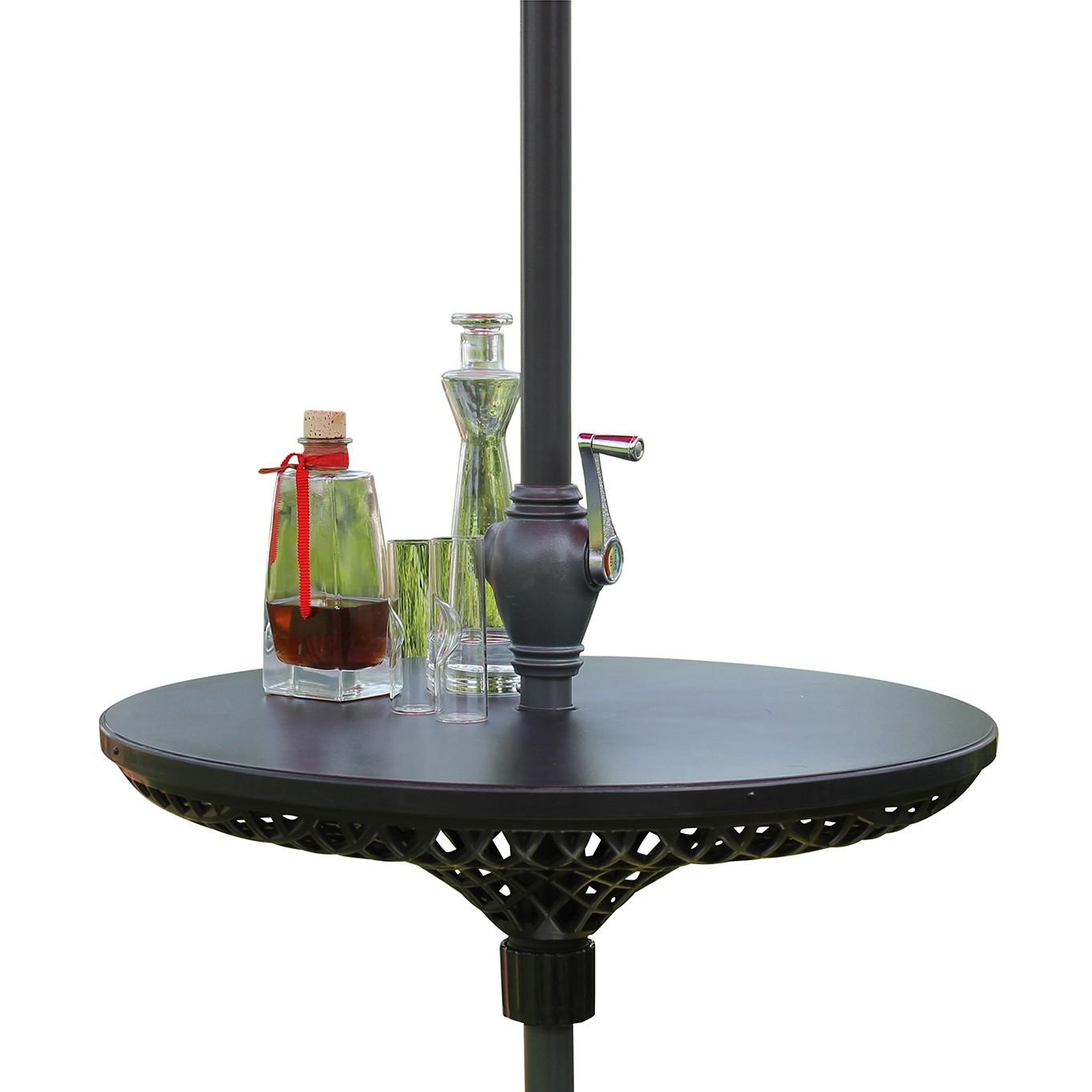 Image of Tavolino per ombrellone Mara - Materiale sintetico Color antracite, Leco