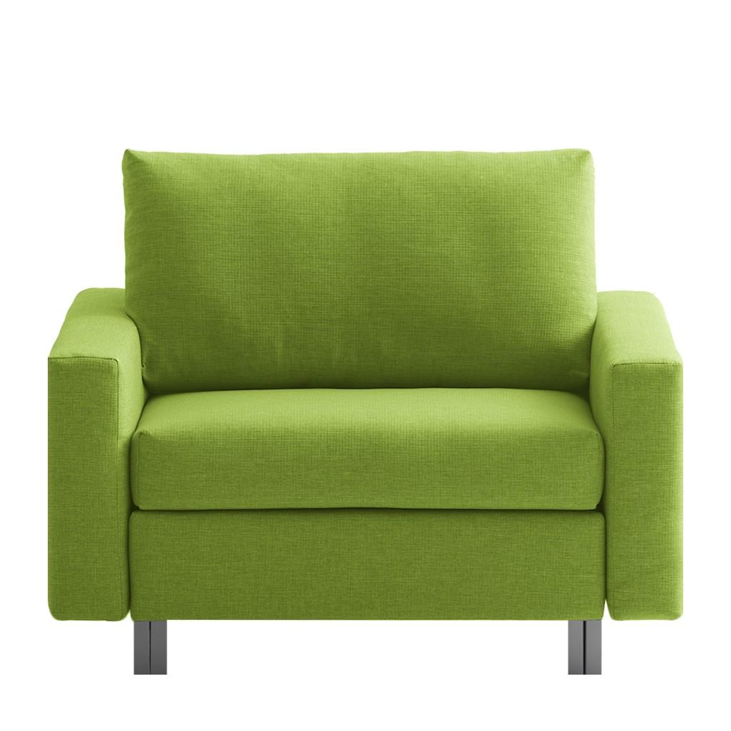 goedkoop Slaapfauteuil Aura geweven stof Groen chillout by Franz Fertig