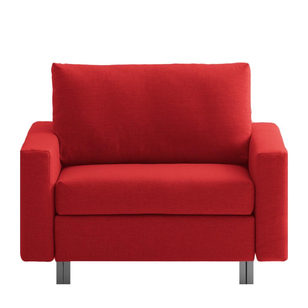 goedkoop Slaapfauteuil Aura geweven stof Rood chillout by Franz Fertig