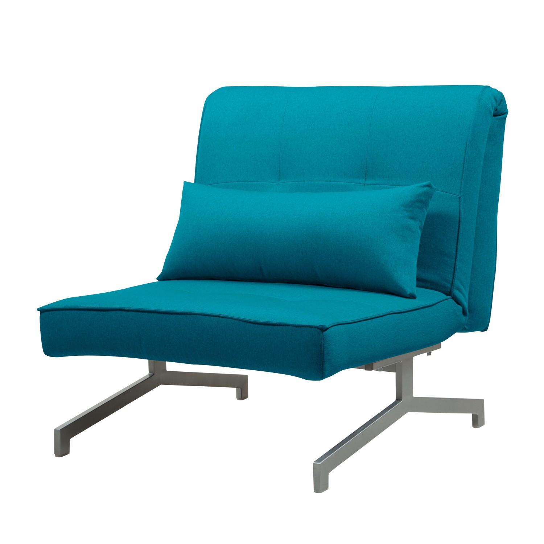 goedkoop Slaapfauteuil Cardini Uno geweven stof Stof Zahira Turquoise Fredriks