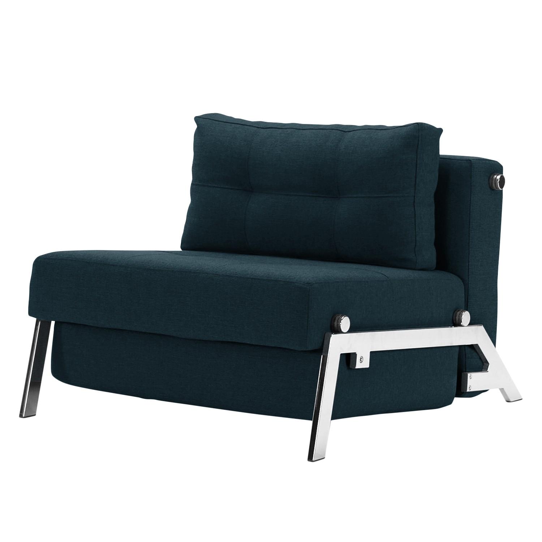 goedkoop Slaapfauteuil Cubed 90 II geweven stof Chroom Stof 528 Mixed Dance Blue Innovation Möbel