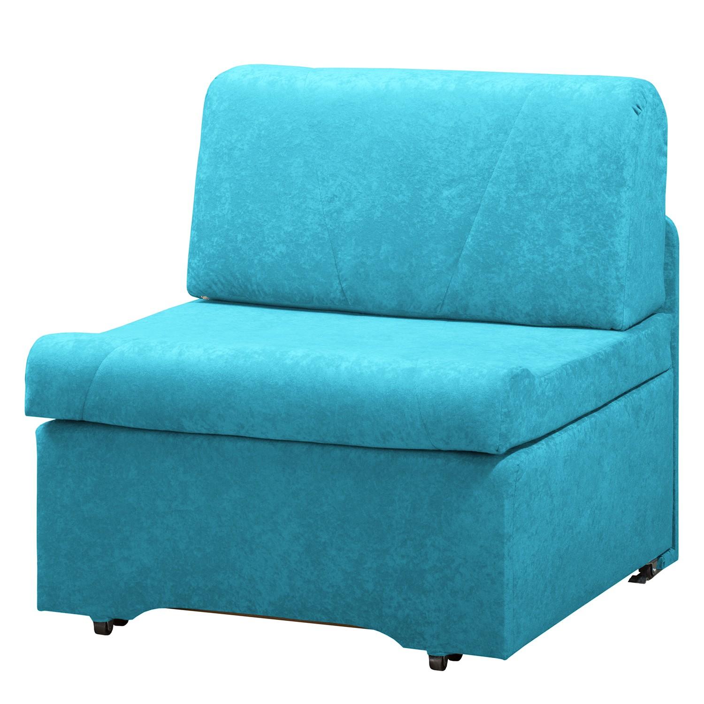 home24 Schlafsessel Disley Webstoff | Schlafzimmer > Schlafsofas > Schlafsessel | Blau | Textil | Modoform