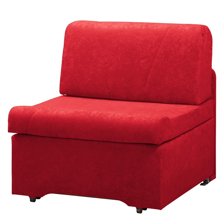 goedkoop Slaapfauteuil Disley geweven stof Rood zonder armleuningen Fredriks