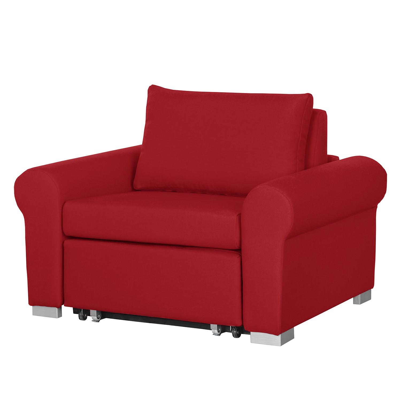 goedkoop Slaapfauteuil Latina IV geweven stof Rood mooved