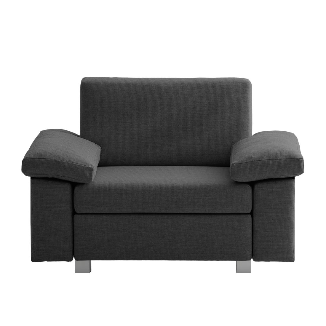 Fauteuil convertible Plaza - Tissu - Anthracite - Types d'accoudoir rabattable, chillout by Franz Fertig