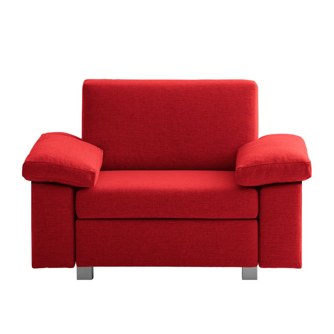 goedkoop Slaapfauteuil Plaza geweven stof Rood Opklapbare armleuningen chillout by Franz Fertig