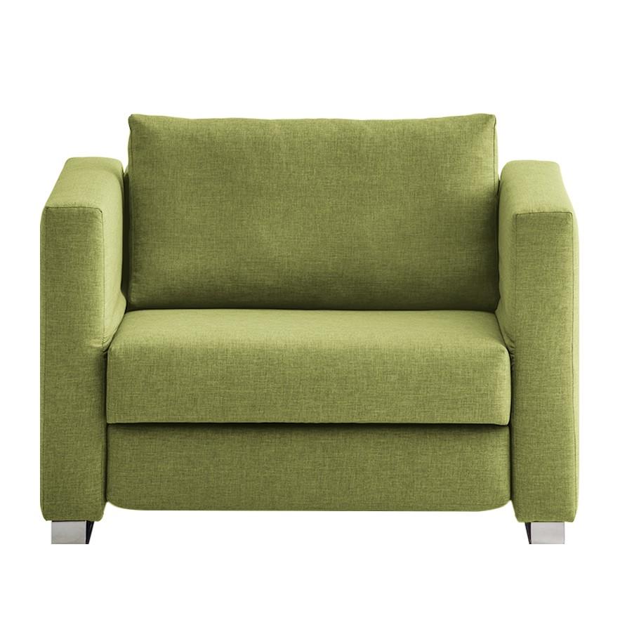 goedkoop Slaapfauteuil Randa geweven stof Groen chillout by Franz Fertig