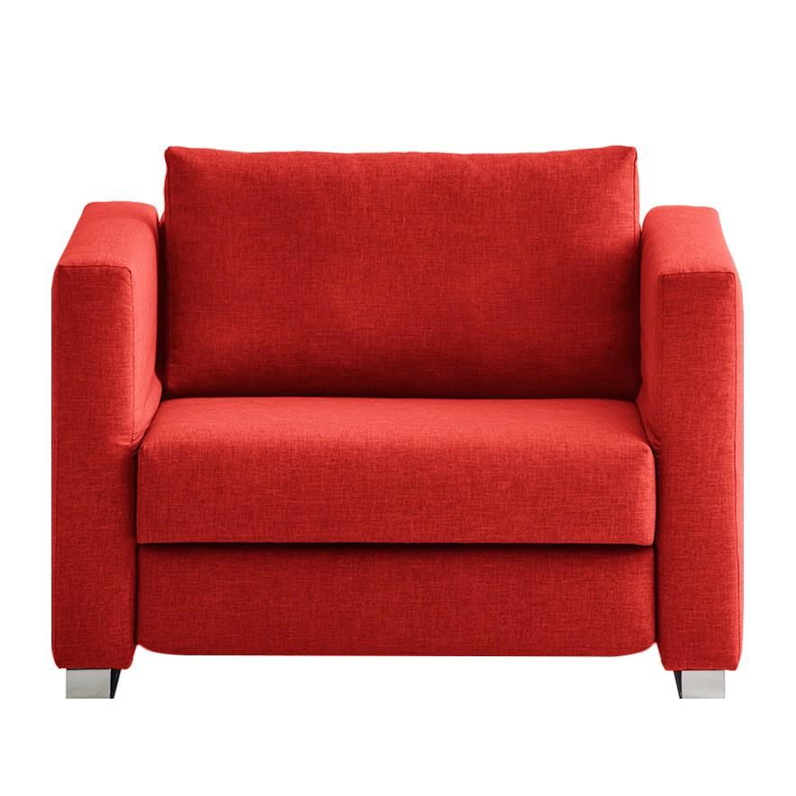 goedkoop Slaapfauteuil Randa geweven stof Rood chillout by Franz Fertig