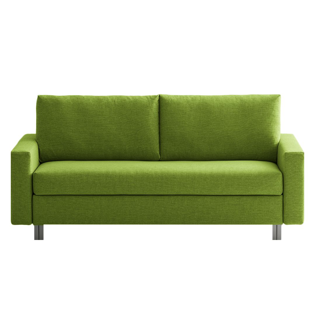 goedkoop Slaapbank Aura geweven stof Groen 176cm chillout by Franz Fertig
